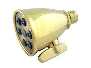 Kingston Brass K138A2 6 Spray Nozzles Power Jet Shower Head - Polished Brass