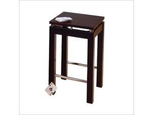 Winsome 92724 Linea 23   Bar Stool - Espresso w/Chrome