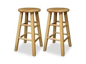 "Winsome 83224 2-Piece 24"" Square Beechwood Stools"