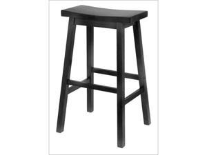 Winsome 20089 Saddle Seat 29 Inch Stool - Black