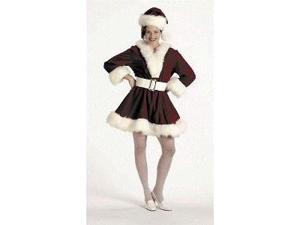 Halco 7054-8 Velvet Perky Pixie Christmas Costume - Medium