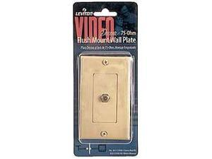 Leviton Ivory Decora Video Flush Mount Coaxial Jack Cover Wallplate  831-C2448-I