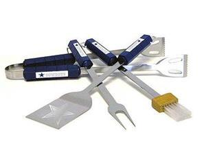 Siskiyou Sports 78103 Dallas Cowboys- 4 Piece Bbq Set