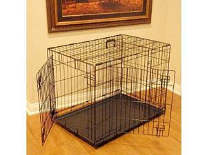 Majestic Pet 788995012368 36 in. Medium Double Door Folding Dog Crate Cage