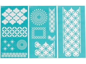 Plaid:Craft MS00032-266 Martha Stewart Large Stencils 3 Sheets-Pkg-Arabesque 8-3-4 in. X16-3-4 in.  11 Designs