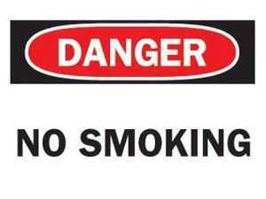 Brady 262-88371 10X14 Inch No Smoking Sign Sticker