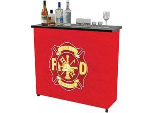 Fire Fighter Metal 2 Shelf Portable Bar with Carrying Case