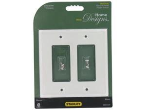 Stanley Hardware White GFI Double Wall Plate With Screws  832626
