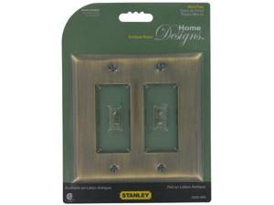 Stanley Hardware Antique Brass GFI Double Wall Plate With Screws  832600