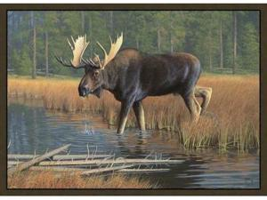 Custom Printed Rugs MOOSE Moose Wildlife Rug