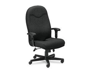 Mayline 9413AG2113 Comfort Series Executive High-Back Swivel/Tilt Chair- Black Fabric