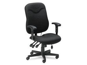 Mayline 9414AG2113 Comfort Series Executive Posture Swivel/Tilt Chair- Black Fabric
