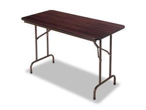 Alera FT724824WA Folding Table  48w x 30d x 29h  Walnut