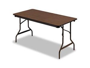 Iceberg 55314 Economy Wood Laminate Folding Table  30 x 60  Walnut