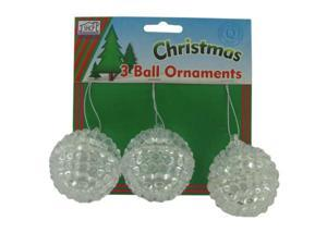 3 ball ornaments - Pack of 24