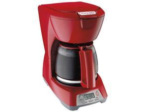 Proctor Silex 43673 Red Programmable Coffeemaker