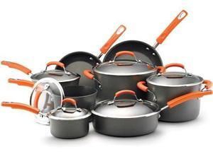 Rachael Ray 87000 14 Piece Set - Orange Handles