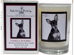Aroma Paws 344 Breed Candle 5 Oz. Glass-Gift Box - Miniature Pinscher