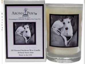 Aroma Paws 349 Breed Candle 5 Oz. Glass-Gift Box - Whippet