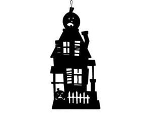 Village Wrought Iron HOS-234 Haunted House Silhouette Decoration