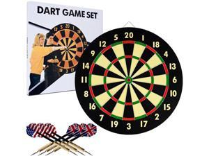 Trademark Poker TGT Dart Game Set with 6 Darts & Board