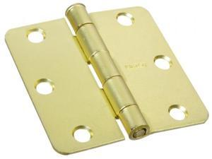 Stanley Hardware 3in. X 3in. Satin Brass Full Mortise Radius Corner Hinge  081400