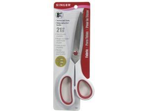 Singer 8-.50in. Red & White Stainless Steel Fabric Scissors  00445