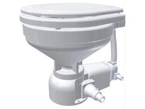 Raritan Sea Era Marine Size Electric Toilet - Fresh Water Solenoid - Straight Discharge - 12V