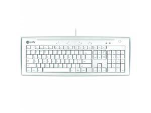 Macally iKey5 USB Keyboard for Mac with two USB Ports