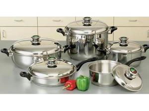 HealthSmart 10pc 9Element    Waterless    Cookware Set with Thermo Control Knobs