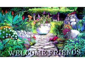 Custom Printed Rugs DM  46 Welcome Garden Gate Door Mat