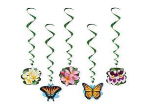 Beistle 57605 Flower Garden Whirls Pack of 6