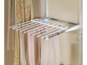 Rubbermaid Configurations Closet Sliding Pants Rack Titanium FG3J0602TITNM