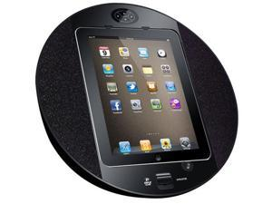 PyleHome PIPDSP2B iPod-iPhone iPad Touch Screen Dock with Built-In FM Radio-Alarm Clock - Black
