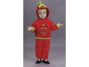 Costumes For All Occasions FW9674L Hooded Pumpkin 2Pc 18 24 Mo