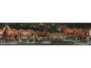 Roommates RMK1016BCS Wild Horses Peel & Stick Border