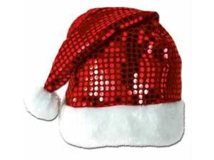 Beistle - 20730 - Sequin-Sheen Santa Hat- Pack of 12