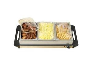 Nostalgia BCD992 3-Section Buffet and Warming Tray
