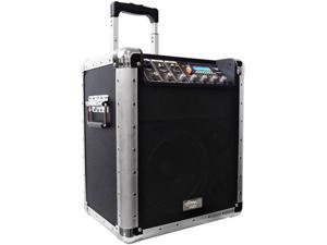 PylePro PCMX260MB Battery Powered Portable PA System with USB-SD-MP3 Inputs- Microphone Included