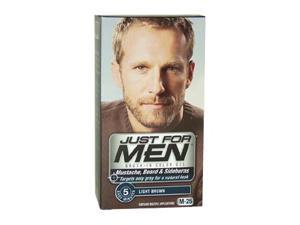 Brush-In Color Gel Mustache-Beard & Sideburns Light Brown  NO.  M-25 by Just For Men for Men - 1 Application Mustache-Beard ...
