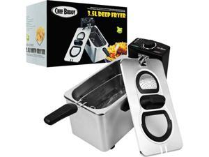 Chef BuddyT Electric Deep Fryer Stainless Steel - 3.5 Liter