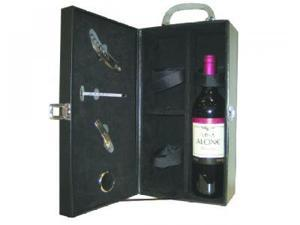 Creative Motion 11359-0 Leather Double Wine Holder + Tools