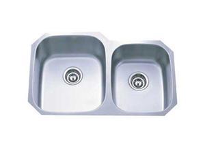 Kingston Brass GKUD3221P Gourmetier GKUD3221P Undermount Double Bowl Kitchen Sink, Brushed Nickel