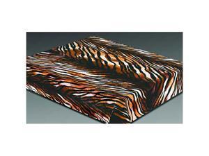 "Poker 80-596TIGERSKIN 79"" x 94.5"" Acrylic Mink Tiger Skin Blanket"