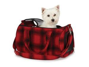 Petedge ZA1028 14 83 ESC Buffalo Plaid Pet Carrier Sm Red