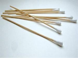 C & A Scientific 95-8702 Cotton Tipped One End 6 Inch Applicator Sticks - Box of 1000