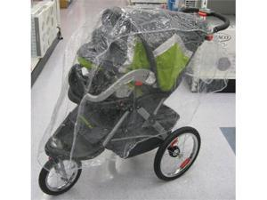 Sasha Kiddie RW-TSJ Single Jogger Travel System Rain and Wind Cover - Stroller Not Included