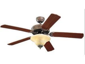 5HS52TBS-L Homeowner's Deluxe 52 in. Tuscan Bronze Ceiling Fan With Mahogany Blades