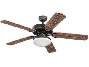 5WF52RBD-L Weatherford 52 in. Deluxe Roman Bronze Ceiling Fan With American Walnut Blades