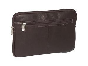 Piel Leather 2931-CHC Mini Zip Laptop Sleeve - Chocolate